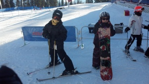 My cousin's children at Silver Star, Canada