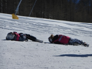 And they say snowboarder lie on the slopes!