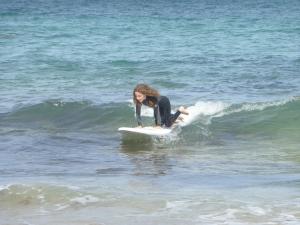 Catching a Cornish wave