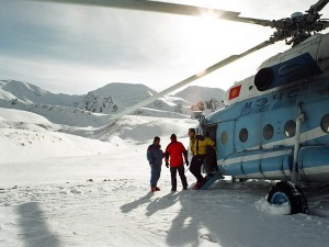 Kyrgyzstan heliboarding photo is on my vision board